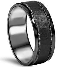 black gold mens wedding band 8mm hammered 10k black gold mens wedding band