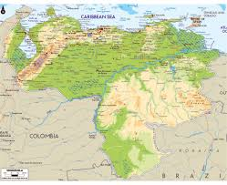 Latin America Physical Map by Maps Of Venezuela Detailed Map Of Venezuela In English Tourist