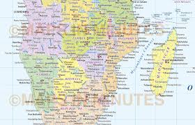 Political Map Of Africa by Digital Vector Africa Map Political Style In Illustrator And And