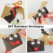 diy reindeer envelopes if you are planning on sending out