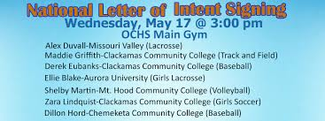 College National Letter Of Intent National Letter Of Intent Signing 2017 High School