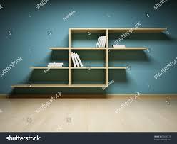 bookshelf on wall books dvd stock illustration 95686279 shutterstock