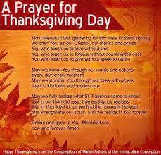 grace thanksgiving prayer festival collections