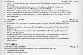 Healthcare Resume Objective Examples by Case Management Resume Objective Examples Reentrycorps