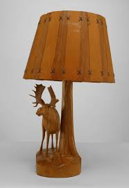 antique rustic ardirondack canadian 1950s carved oak