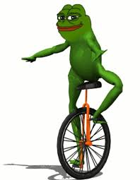 Unicycle Meme - do you think frog memes like dat boi pepe and others could get