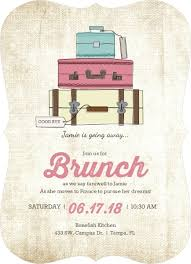 brunch party invitations vintage luggage farewell brunch invitation going away party