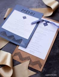 program paper modern wedding program and menu lia griffith