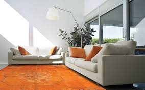Modern Orange Rug Overdyed And Rugs Home Designs