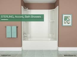 One Piece Bathtub Wall Surround Installation Sterling Accord Bath Showers Youtube