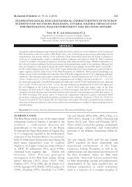 Sedimentology And Geochemical Evaluation Of Sedimentological And Geochemical Pdf Available