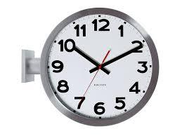 amazon com karlsson wall clock double sided aluminum home u0026 kitchen