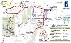 Mammoth Luxury Home Rentals by Summer Transit Map Jpg