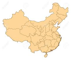 China On A Map Map Of China Where Hong Kong Is Highlighted Stock Photo Picture