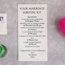 wedding gift kits personalised marriage survival wedding gift survival