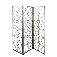 3 panel metal room dividers you u0027ll love wayfair