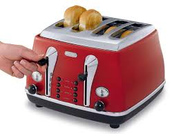 4 Slice Bread Toaster Icona Red 4 Slice Toaster Cto4003r Delonghi New Zealand