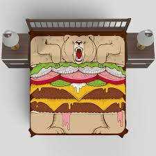 Fish Duvet Cover Burger Bear Duvet Cover By Jeremy Fish