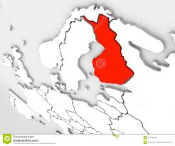 map northern europe scandinavia finland abstract 3d map country europe scandinavian region stock