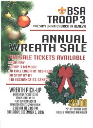 bsa troop 3 annual wreath sale presbyterian church in geneva