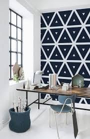 tapisserie bureau bureau avec du papier peint à motif mur masking
