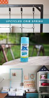 upcycling a crib spring for your creative workspace simple scrapper