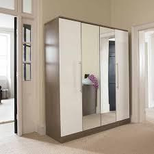 Single Mirror Closet Door Mirror Design Ideas Sliding Hinged Wardrobe With Mirror Doors