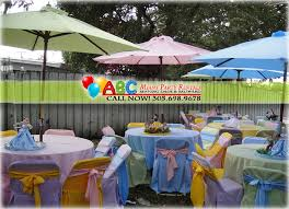 table rentals miami party umbrella sets