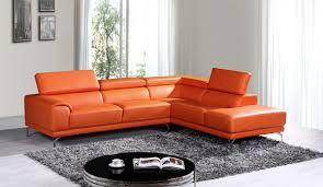 orange leather sectional sofa casa wisteria modern orange leather sectional sofa w right facing