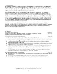Resume Format For Advertising Agency Mba Sample Resumes Resume Cv Cover Letter