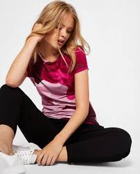 porcelain rose fitted t shirt maroon tops and t shirts ted