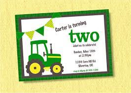 boy tractor birthday invitation custom tractor birthday party