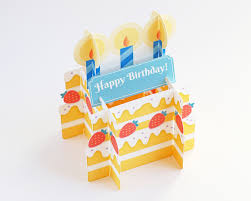 3d birthday cake card u2013 yaymailshop