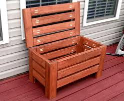 Wood Outdoor Storage Bench Diy Rustic Outdoor Storage Bench Create Your Free Maker Profile