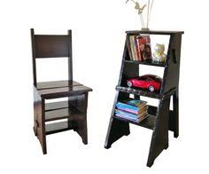 Library Step Stool Chair Combo Amish Library Chair And Step Stool Combo Stool Chair Stools And