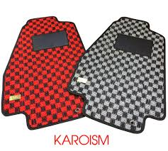 jdm acura nsx 91 05 acura nsx karo checkered jdm floor mats set honda