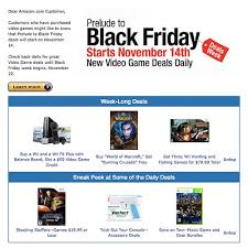 will amazon have black friday sale amazon com offers u0027prelude to black friday deals u0027 for video games