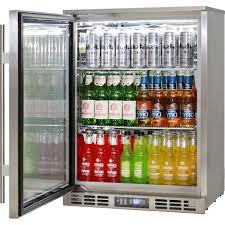 heated glass 1 door commercial stainless steel bar fridge left hinged