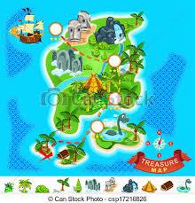 treasure map clipart treasure map vector clip eps images 3 004 treasure map