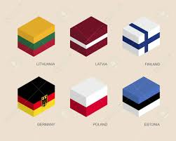 Flags Of European Countries Set Of Isometric 3d Boxes With Flags Of European Countries Simple