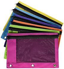 pencil pouch zippered mesh pencil pouch for 3 ring school binders