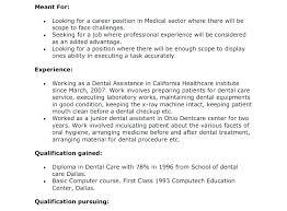 resume exles for dental assistants dental assistant cover letter exles resume cover letter