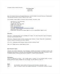 resume format for computer science freshers pdf fresh inspiration