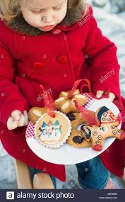small holding plate of baked tree ornaments foodcollection