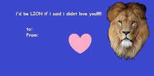 punny valentines day cards lion pun valentines day card by skuiier on deviantart