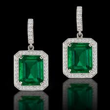 emerald earrings hajibay co