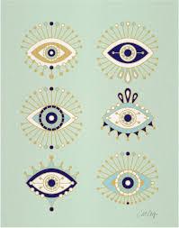 evil eye collection print prints evil eye