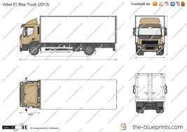 2016 volvo commercial truck the blueprints com vector drawing volvo fl box truck