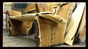 hand made live edge rustic bench crotch wood slabs by juniper