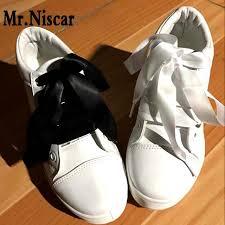 ribbon shoelaces mr niscar 2 pair fashion colorful silk ribbon shoelace women flat